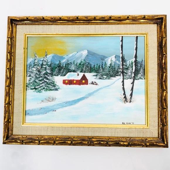 Original VTG '75 Framed Oil Painting